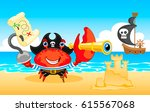 pirate crab  crab icon vector