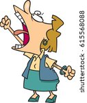 cartoon woman yelling | Shutterstock .eps vector #615568088