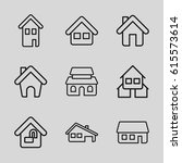 10 icons set. set of 9 10... | Shutterstock .eps vector #615573614