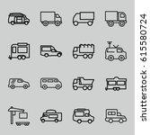 van icons set. set of 16 van... | Shutterstock .eps vector #615580724