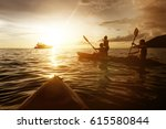 two kayaks swimming at in...   Shutterstock . vector #615580844