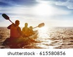 Kayaking Concept With Family O...