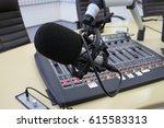 live broadcasting on radio... | Shutterstock . vector #615583313