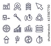 arrow icons set. set of 16... | Shutterstock .eps vector #615587750