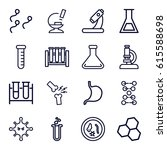 biology icons set. set of 16... | Shutterstock .eps vector #615588698