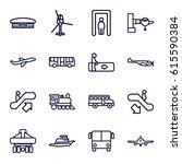 passenger icons set. set of 16... | Shutterstock .eps vector #615590384