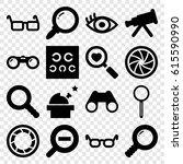 optical icons set. set of 16... | Shutterstock .eps vector #615590990