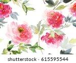 horizontal seamless pattern... | Shutterstock . vector #615595544
