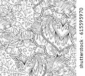 tracery seamless pattern.... | Shutterstock .eps vector #615595970