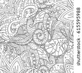 tracery seamless pattern.... | Shutterstock .eps vector #615595988
