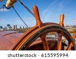 tall ship glenlee from... | Shutterstock . vector #615595994
