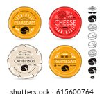 set of template labels for... | Shutterstock .eps vector #615600764