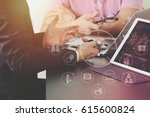 medical co working concept... | Shutterstock . vector #615600824
