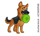 friendly dog of the german...   Shutterstock .eps vector #615600968