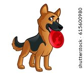 friendly dog of the german... | Shutterstock .eps vector #615600980