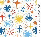 festive seamless pattern with... | Shutterstock .eps vector #615601046