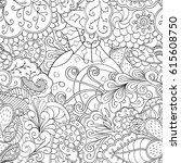 tracery seamless pattern.... | Shutterstock .eps vector #615608750