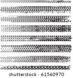 vector tire tracks | Shutterstock .eps vector #61560970