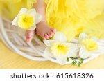 baby toes yellow egotists | Shutterstock . vector #615618326
