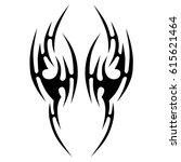 tattoo sketch tribal vector... | Shutterstock .eps vector #615621464