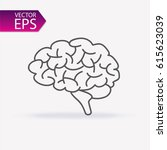 brain icon. education and... | Shutterstock .eps vector #615623039