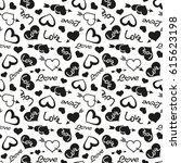 love theme hearts valentine's...   Shutterstock . vector #615623198