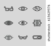 vision icons set. set of 9... | Shutterstock .eps vector #615629576