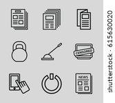 press icons set. set of 9 press ... | Shutterstock .eps vector #615630020