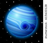 planet in space with stars ... | Shutterstock .eps vector #615633128