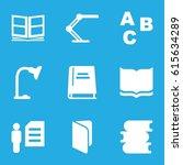 reading icons set. set of 9... | Shutterstock .eps vector #615634289