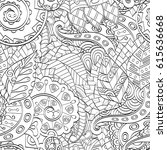 tracery seamless pattern.... | Shutterstock .eps vector #615636668