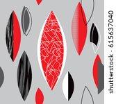 mid century modern 1950s style... | Shutterstock .eps vector #615637040
