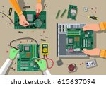 components for personal... | Shutterstock .eps vector #615637094