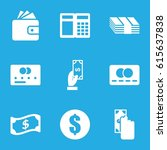 payment icons set. set of 9... | Shutterstock .eps vector #615637838