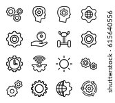 gear icons set. set of 16 gear...   Shutterstock .eps vector #615640556