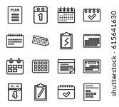 agenda icons set. set of 16... | Shutterstock .eps vector #615641630