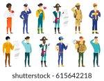 caucasian confident police... | Shutterstock .eps vector #615642218