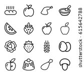 nutrition icons set. set of 16... | Shutterstock .eps vector #615642788