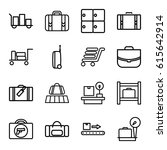 baggage icons set. set of 16... | Shutterstock .eps vector #615642914