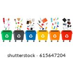 Many Garbage Cans With Sorted...