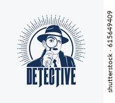 detective logo vector | Shutterstock .eps vector #615649409
