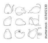 Set Of Hand Drawn Cat Doodles....