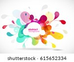abstract colored flower... | Shutterstock .eps vector #615652334