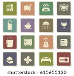 hotel room services vector... | Shutterstock .eps vector #615655130