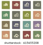 house type vector icons for... | Shutterstock .eps vector #615655208
