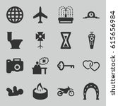 simple icons set. set of 16... | Shutterstock .eps vector #615656984