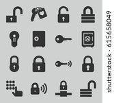 password icons set. set of 16... | Shutterstock .eps vector #615658049