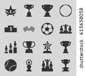 championship icons set. set of... | Shutterstock .eps vector #615658058