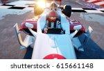 racer of formula 1 in a racing... | Shutterstock . vector #615661148