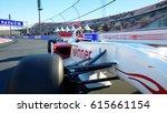 race car. very fast driving. 3d ... | Shutterstock . vector #615661154